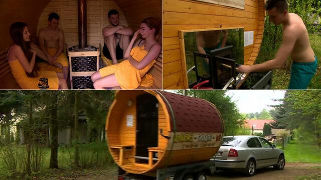 Oto niezwykła sauna na kółkach. Jeździ po całej Polsce