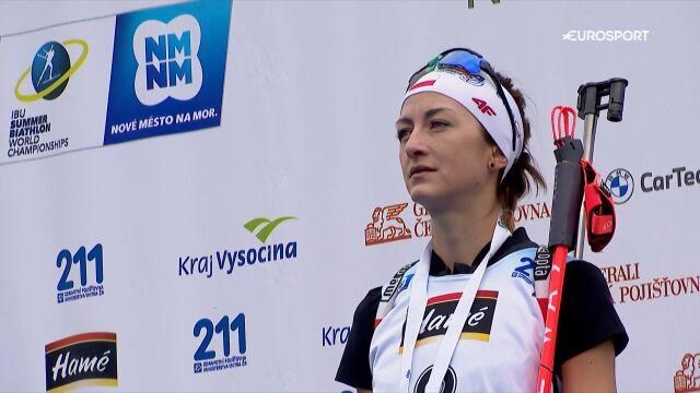 Hojnisz-Staręga odebrała złoty medal za triumf w sprincie w biathlonie letnim