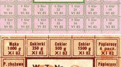 Kartki żywnościowe z czasów PRL