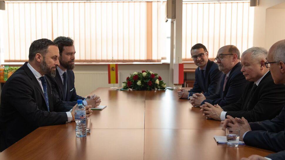 Jarosław Kaczyński spotkał się z Santiago Abascalem