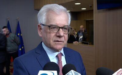 Czaputowicz: czekamy ze spokojem na wyjaśnienia tej kwestii
