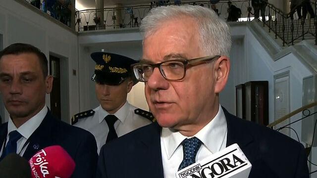 Szef MSZ: jesteśmy spokojni, czekamy na decyzję