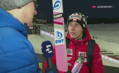 Dawid Kubacki po kwalifikacjach w Trondheim