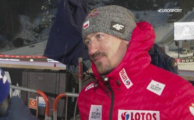 Adam Małysz po kwalifikacjach w Vikersund