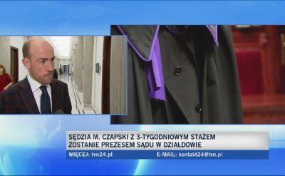 Opozycja ostro komentuje nominację Czapskiego