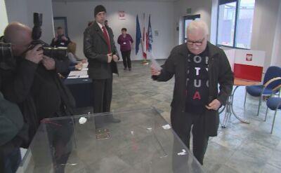 Lech Wałęsa oddał głos w wyborach prezydenckich w Gdańsku