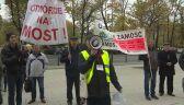 Mieszkańcy Wronek protestują: chcą otwarcia mostu