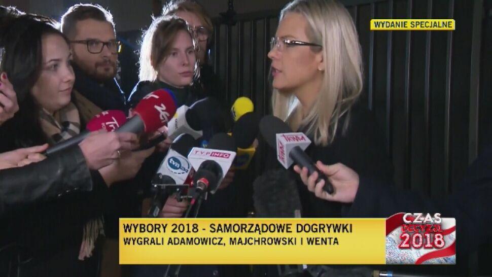 Nie czekała na wyniki w Krakowie. Przegrana Małgorzata Wassermann: mam powody do dumy
