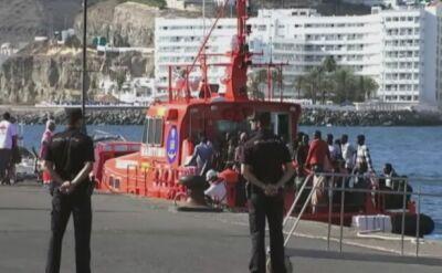 Imigranci uratowani z morza