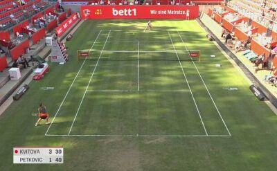 Bett1 Aces: skrót meczu Kvitova - Petkovic