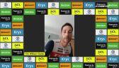 William Clarke po 6. etapie wirtualnego Tour de France