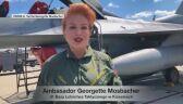 Georgette Mosbacher o locie F-16