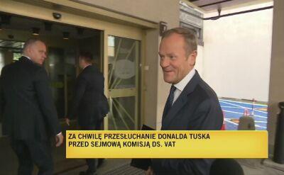 Donald Tusk przed komisją śledczą do spraw wyłudzeń podatku VAT