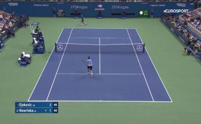 Skrót meczu Djoković - Wawrinka