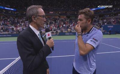 Rozmowa ze Stanem Wawrinką po awansie do ćwierćfinału US Open