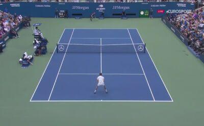 Wymiana pod siatką w finale US Open
