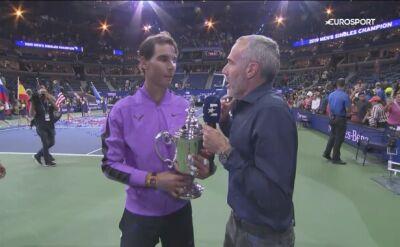 Wywiad z Rafaelem Nadalem po wygranym finale US Open 2019