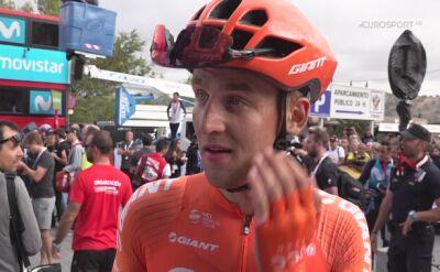 Szymon Sajnok po 19. etapie Vuelta a Espana