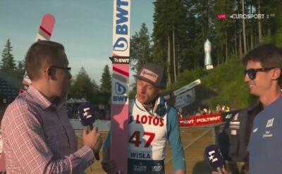Dawid Kubacki po konkursie LGP w Wiśle