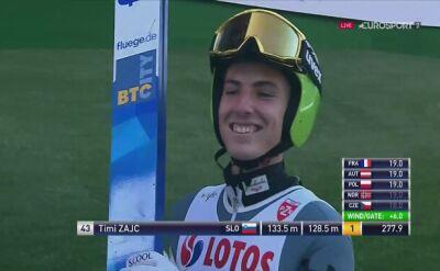 Zwycięski skok Timiego Zajca podczas LGP w Wiśle