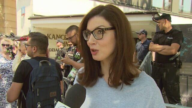 Eliza Michalik o proteście przed Sejmem