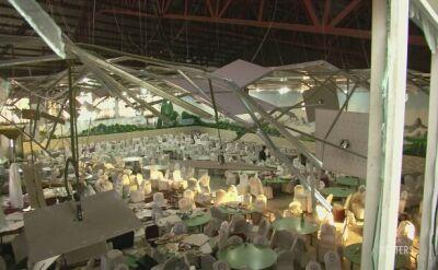 Sala weselna w Kabulu po eksplozji
