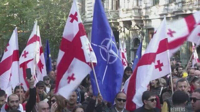 Antyrządowe demonstracje w Gruzji