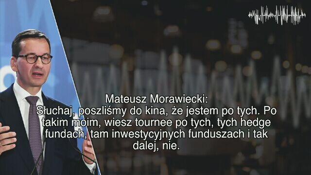 """Morawiecki na taśmach: """"Będziemy strzelać, będziemy odpychać ich"""""""