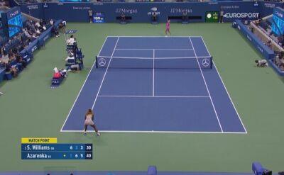 Piłka meczowa w spotkaniu półfinałowym US Open Serena Williams - Wiktoria Azarenka