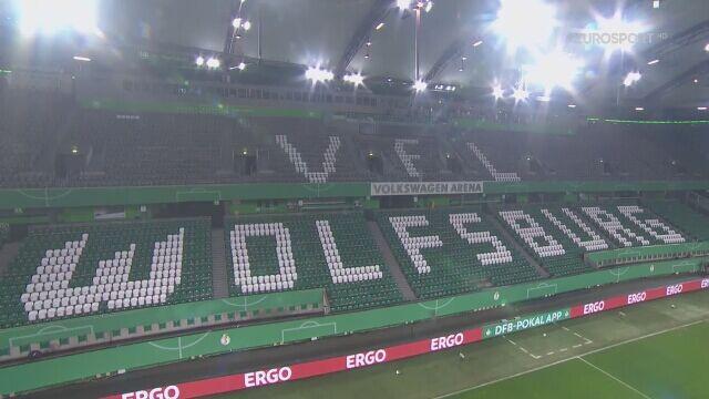 Skrót meczu VfL Wolfsburg - Schalke 04 w 1/8 finału Pucharu Niemiec