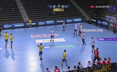 Skuteczny atak pozycyjny Vive w meczu LM z Flensburgiem