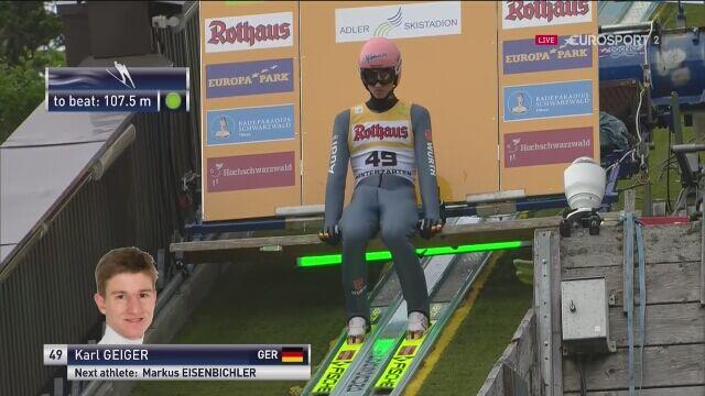 Karl Geiger wygrał konkurs LGP w Hinterzarten
