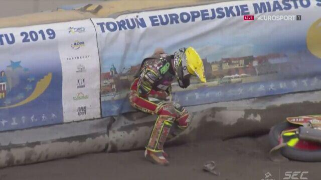 Pechowy dziesiąty bieg, kolejny wypadek na SEC w Toruniu