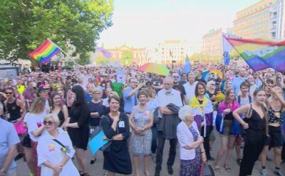 Manifestacja solidarności z członkami Marszu Równości z Białegostoku w Poznaniu
