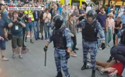 Protesty w Moskwie. Ponad tysiąc zatrzymanych, kilkadziesiąt pobitych