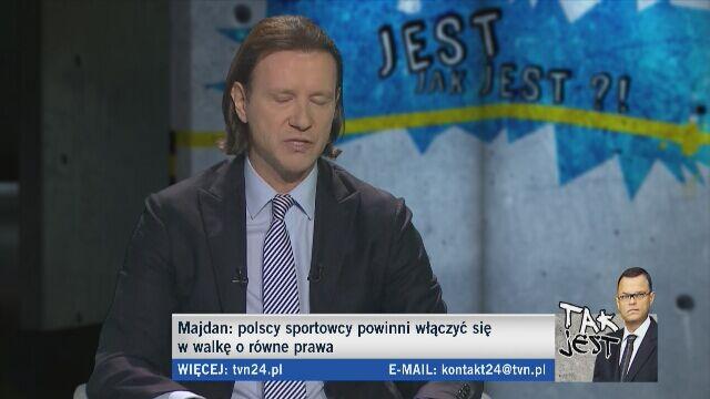 Radosław Majdan o homoseksualizmie w sporcie