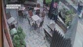 Ciężarówka wjechała do ogródka restauracji