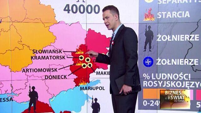 Sytuacja na Ukrainie ok. godz. 7