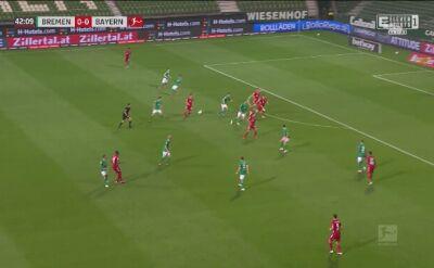 Gol Roberta Lewandowskiego w meczu z Werderem