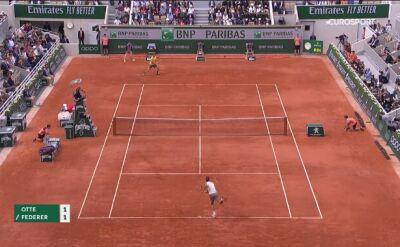 Federer nie dał szans Otte