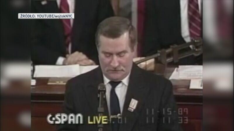 Fragment przemówienia Lecha Wałęsy przed Kongresem Amerykańskim (1989 rok)