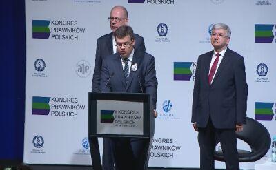 Prezes Iustitii Krystian Markiewicz: politycy chcą dzielić ludzi, próbując wmieszać w to także prawników