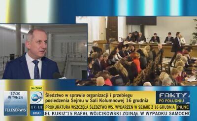 """Śledztwo ws. przebiegu posiedzenia Sejmu. """"Dobra decyzja"""""""