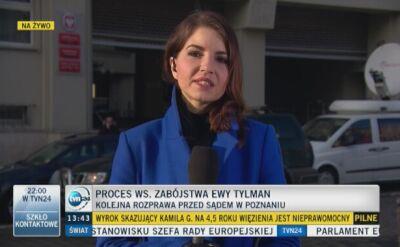 Proces ws. zabójstwa Ewy Tylman. Zeznawali policjanci