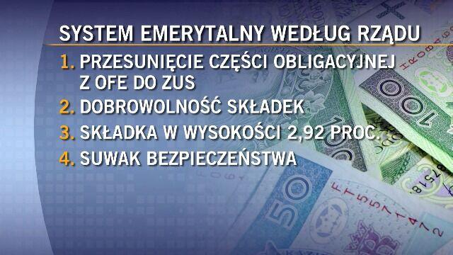 Propozycje rządu ws. zmian w systemie emerytalnym