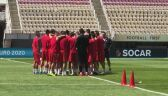 Trening Macedonii przed meczem z Polską