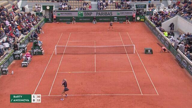 Skrót meczu Ashleigh Barty - Amanda Anisimova