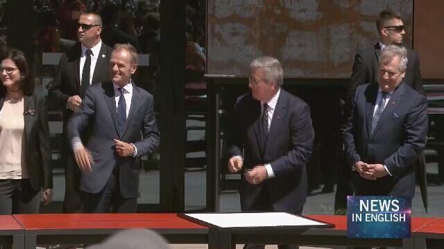 Among the signatories of the Declaration were Aleksandra Dulkiewicz, Donald Tusk, Lech Wałęsa, Aleksander Kwaśniewski and Bronisław Komorowski