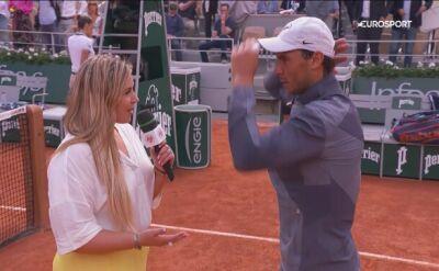Nadal po awansie do półfinału Roland Garros