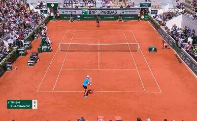 Skrót meczu Thiem - Chaczanow w ćwierćfinale Roland Garros